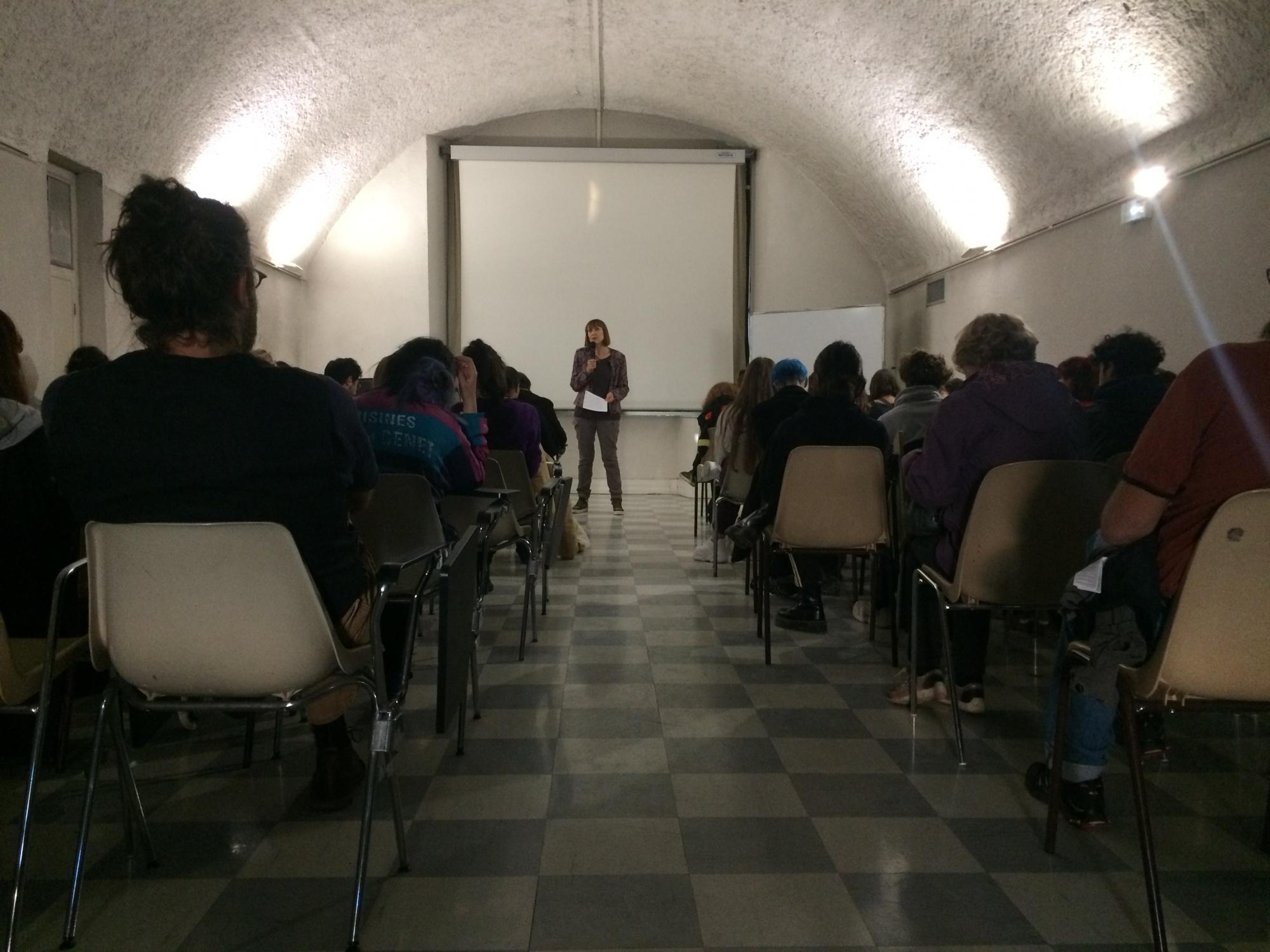 Conférence de Chantal Guillaume Fourir à l'école d'art de Belfort